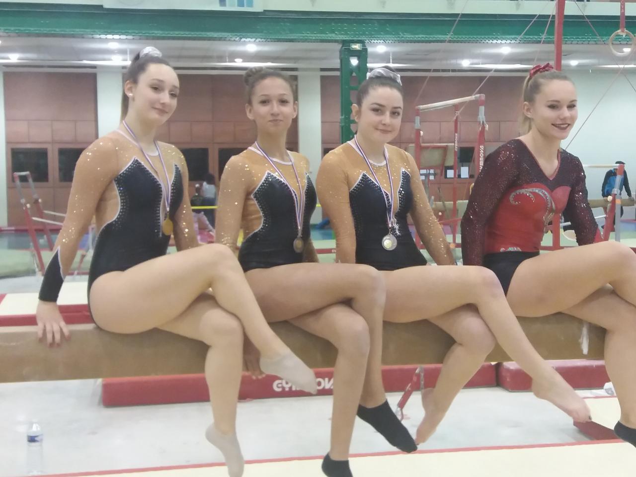 Julie, Anissa, Véronika et Camille en 2018