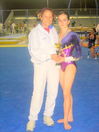 La championne de France Junior et Danuta